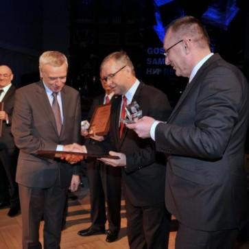 Prezes Zarządu KHBC Sp. zo.o., Pan Józef Stec, odbiera nagrodę Złoty Hit 2014.