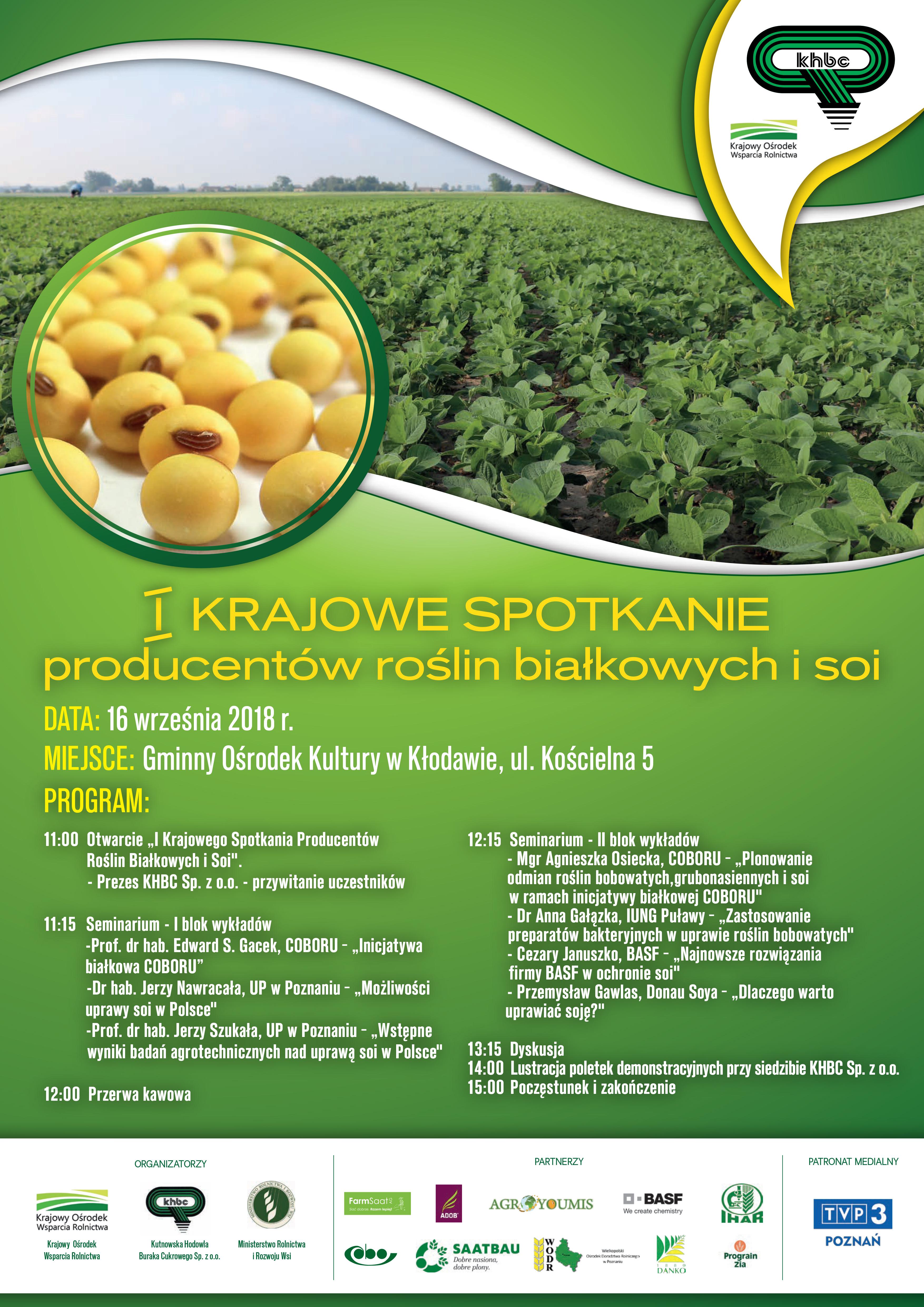 I Krajowe Spotkanie Producentów Roślin Białkowych i Soi